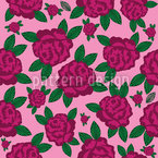 My English Rose Seamless Vector Pattern Design