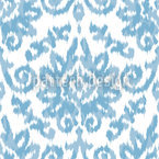 Ikat Damask Seamless Vector Pattern Design