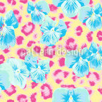 Pansies Wild And Sweet Seamless Vector Pattern Design