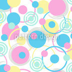 Circle Dreams In Pastel Repeat Pattern