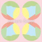 Streifkreise In Pastell Nahtloses Vektor Muster