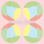 Striped Circles In Pastel Seamless Vector Pattern Design