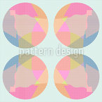 Circle Grid Vector Pattern