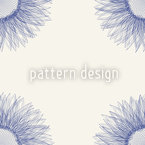 Sunflower Blue Seamless Pattern