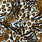 Leopard Hunts Zebra Pattern Design