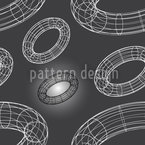 Attack Of The Wire Rings Seamless Vector Pattern Design