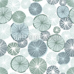 Frosty Lemon Seamless Vector Pattern Design