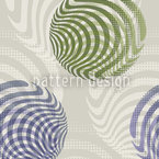 Marbles On Grey Seamless Vector Pattern Design
