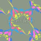 Farbkleckse Auf Olivgrün Nahtloses Vektormuster