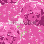 Hortensia Pink Seamless Vector Pattern Design