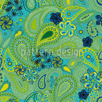 Rusalka Dreams Of Paisley Seamless Vector Pattern Design