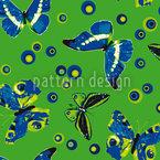 Sphärische Schmetterlinge Rapportmuster