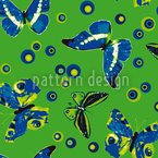 Spherical Butterflies Repeat Pattern