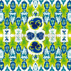 Daysies Crystal Flacons Pattern Design