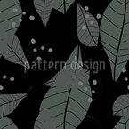 Blätter Im Regen Nahtloses Vektormuster
