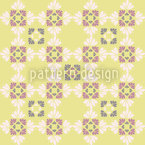 Ines Loves Yellow Flowers Seamless Vector Pattern Design
