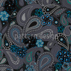 Rusalka Dreams Of Paisley At Night Seamless Vector Pattern Design