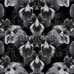 Pansy In Slate Grey Seamless Vector Pattern Design
