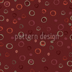 Circles In Red Seamless Vector Pattern Design