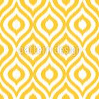 Gelber Ogee Damask Rapportiertes Design