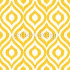 Yellow Ogee Damask Seamless Vector Pattern Design