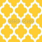 Unique Ikat Yellow Repeat Pattern