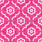 Pink Lady Morocco Seamless Vector Pattern Design