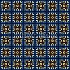 Kacheln In Blau Und Gold Nahtloses Vektormuster