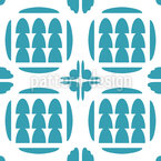 Three Trees Seamless Vector Pattern Design