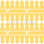 Balconia Yellow Seamless Vector Pattern Design