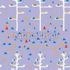 Agave Trees In Triangle Foliage Seamless Vector Pattern Design