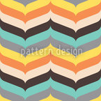 Herringbone Autumn Vibrations Vector Pattern