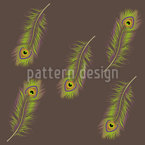 Neon Peacock Seamless Vector Pattern Design