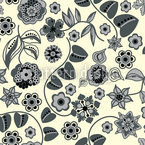 Floral Almrausch By Day Seamless Vector Pattern Design