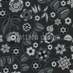 Floral Almrausch At Night Seamless Vector Pattern Design