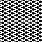 Black Meets White In Zig-Zag Seamless Vector Pattern Design