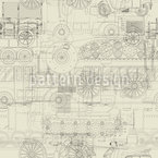 Industrial Revolution Seamless Vector Pattern Design