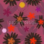 Blumen Fantasie Muster Design