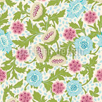 Precious Flower Dream Seamless Vector Pattern Design