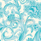Magic Spell Of Crystal Flowers Seamless Pattern