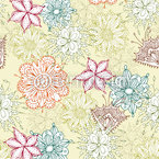 Flowers All Over Seamless Vector Pattern Design