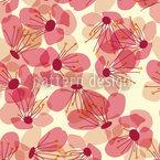 Blütenregen Auf Der Veranda Rapportiertes Design