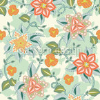Late Summer Flower Romance Seamless Vector Pattern Design
