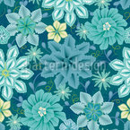 Flowers Say Adieu Seamless Vector Pattern Design