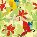 Ara Tropical Vector Pattern