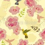 Kolibris Schmecken Hibiskus Muster Design