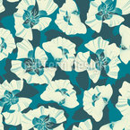 Flowers Far Far Away Seamless Vector Pattern Design