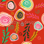 Crazy For Roses Seamless Vector Pattern Design