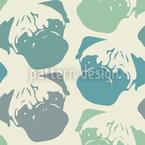 Puggy Pop Pastel Seamless Vector Pattern Design