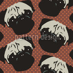 Puggy Pop Polkadot Seamless Vector Pattern Design